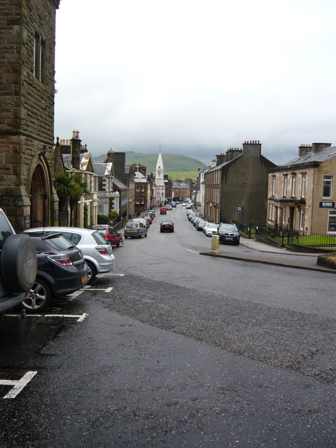 Main Street Campbeltown from the Sheriff Court