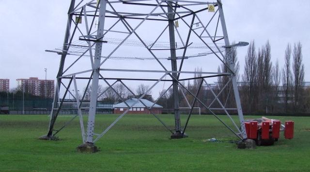 Awkwardly placed pylon