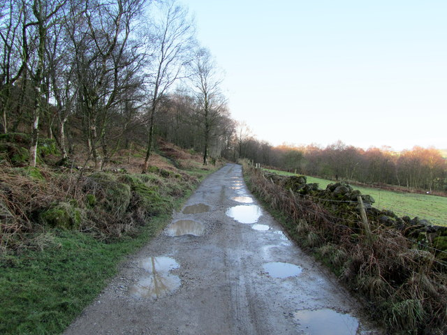 Track to Brimham Rocks Farm