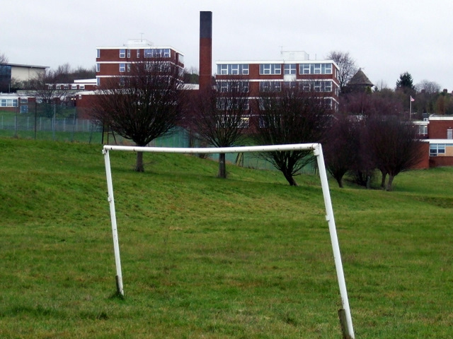 Playing field at South Luton High School