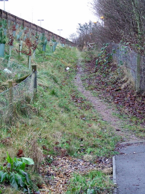 Path by the A1081