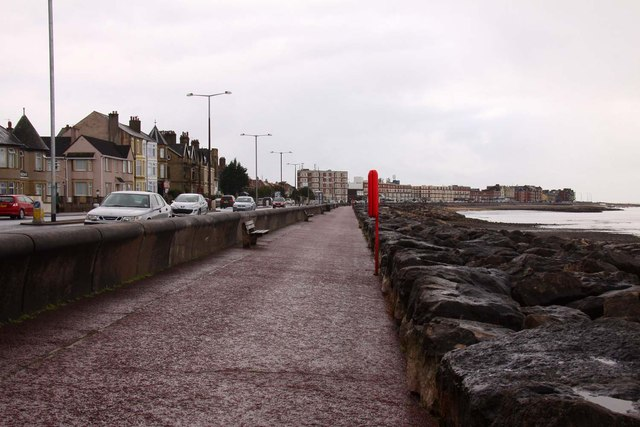 The promenade at Bare looking west