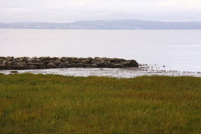 The shoreline at Hest Bank