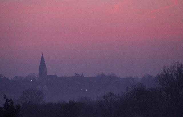 Sunrise over Enfield