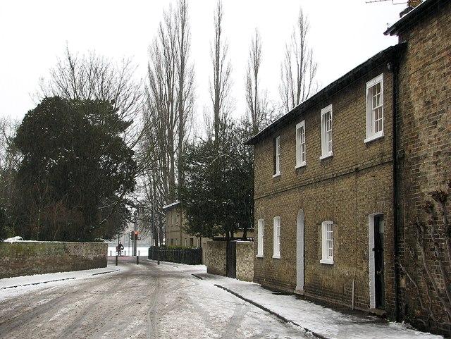 Gresham Road in a snow shower