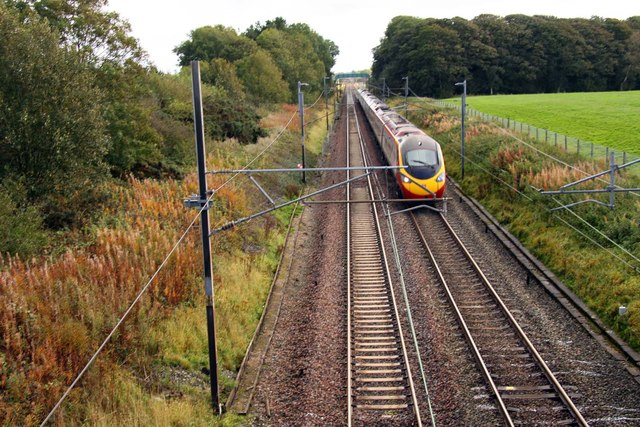 Looking south on the West Coast Main Line