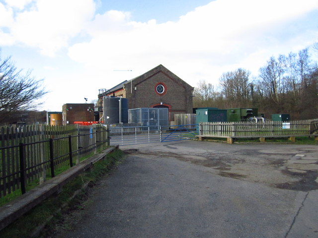 Entrance to pumping station