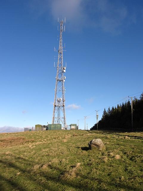 Mast on Meigle Hill