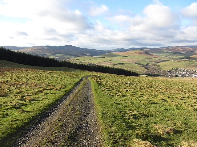 Road up Meigle Hill