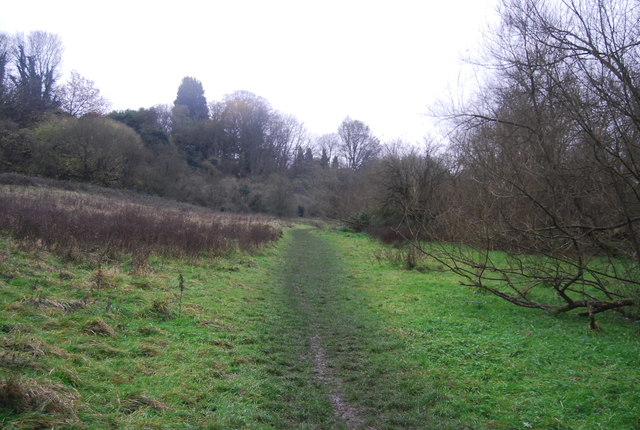 Footpath up the Loose Valley