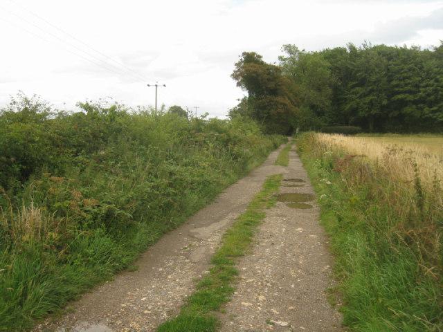 Pot holed track