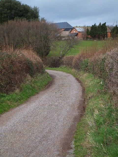 Access road to Ash Farm
