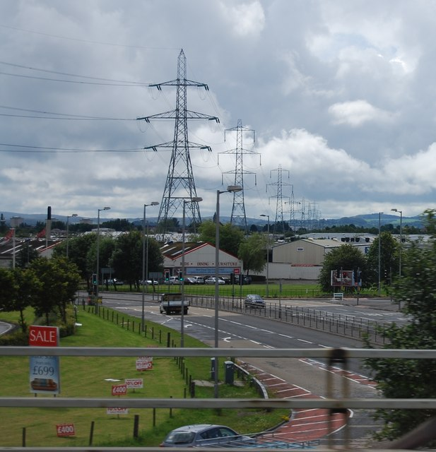 View south from Junction 26, M8