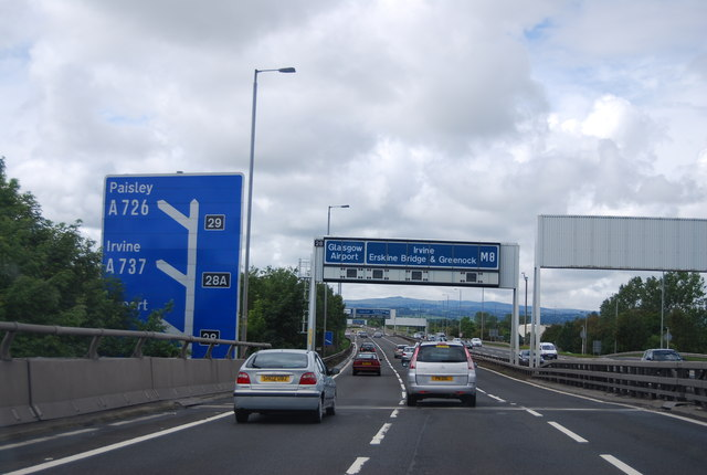 Approaching Junction 28, M8