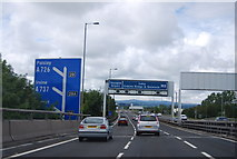 NS4865 : Approaching Junction 28, M8 by N Chadwick