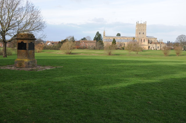 Tewkesbury Abbey viewed from the Vineyards