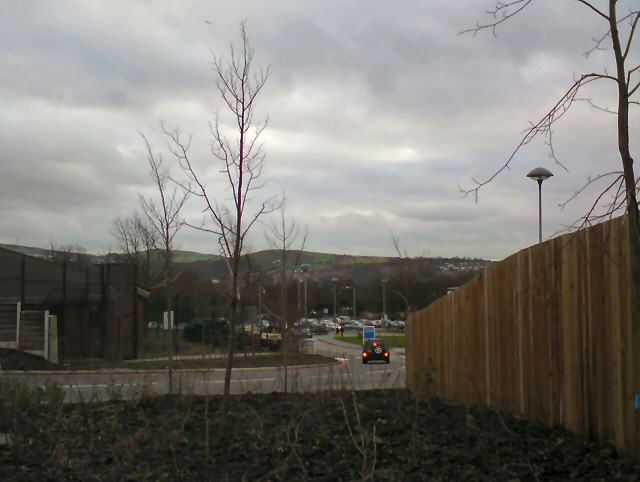 The road into Tameside General Hospital
