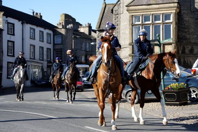 Riding Out at Market Place Middleham