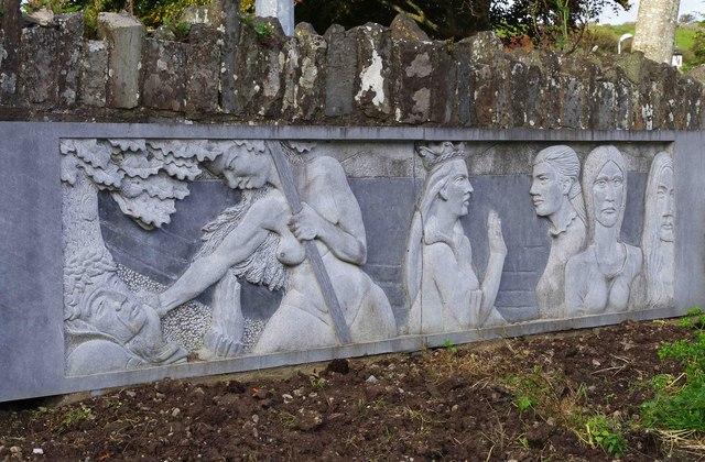 Sculpture at Teach Ceoil, Church Street, Ennistymon