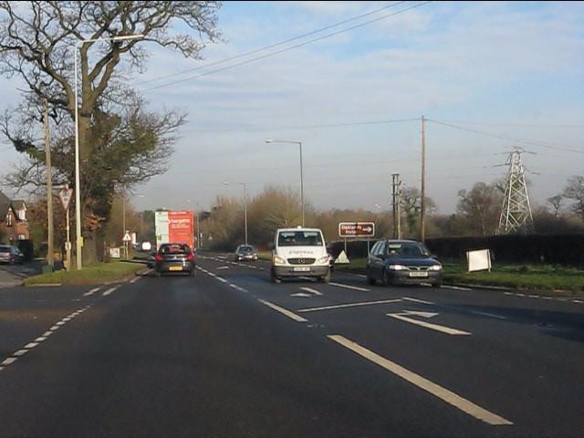 A49 at Cuddington Lane junction