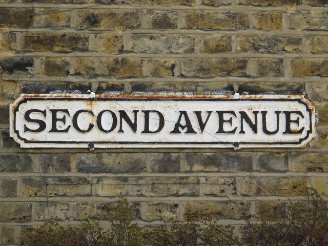 Sign for Second Avenue, NW4