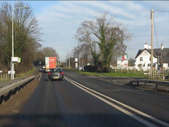 A49 at Willow Green Lane junction