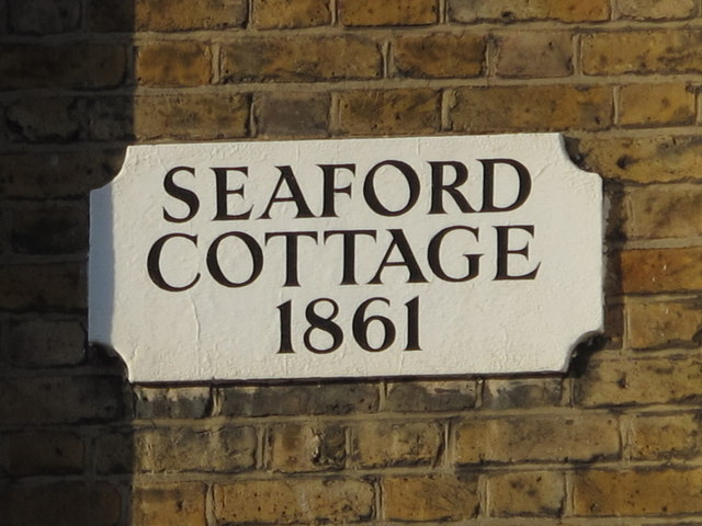 Plaque on Seaford Cottage (1861), Parson Street (B552), NW4