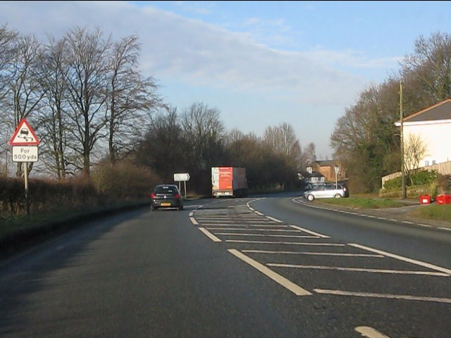 A49 approaching Raddel Lane
