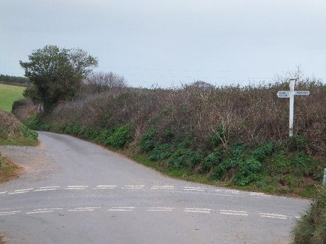 Minor road to Kenton