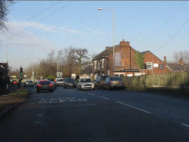 A49 approaching Stretton Road junction, Stretton