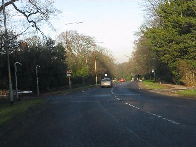 London Road (A49) at Quarry Lane