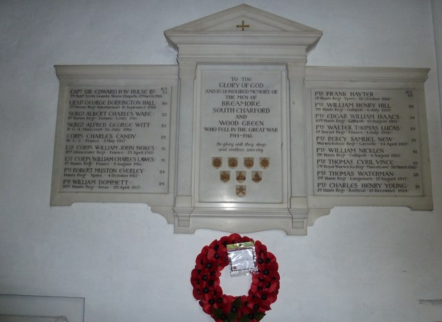 St Mary's Church, Breamore- war memorial