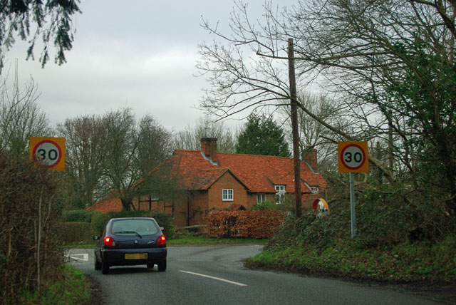 Junction at Church End, Ockham