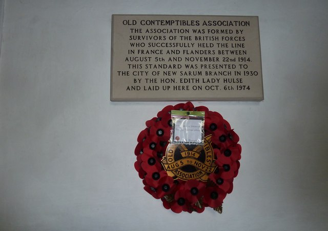 St Mary's Church, Breamore- Old Contempibles Association Plaque
