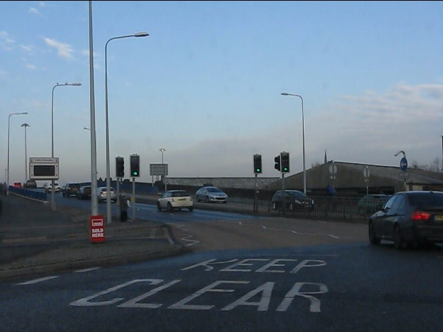 Approaching the bridges, Warrington