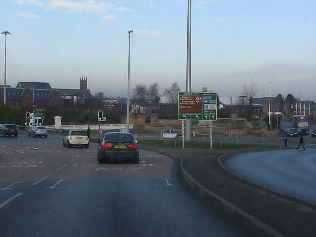 The Mersey bridges, Warrington town centre