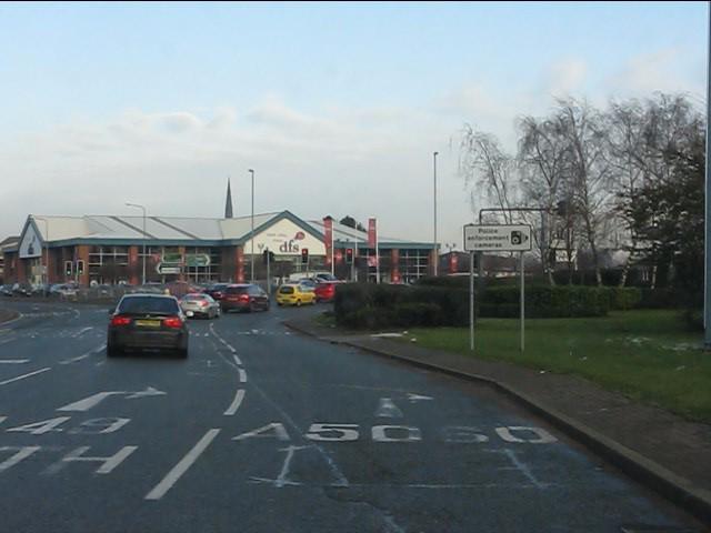 A49 roundabout, Warrington Town Centre