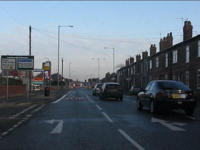 Thelwall Lane at Lyon Street