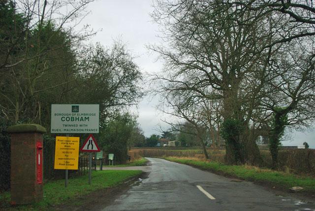 Entering Cobham via Ockham Lane