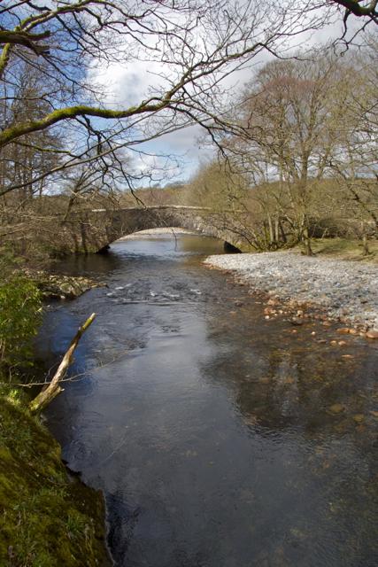 Forge Bridge From Milkingstead Wood Eskdale