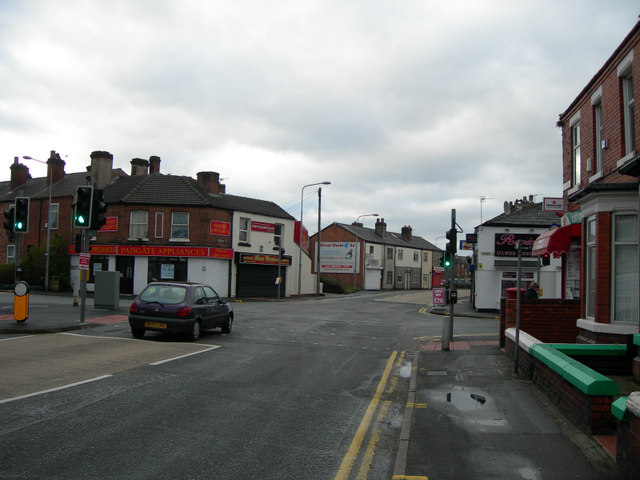 Road Junction at a busy route into Warrington