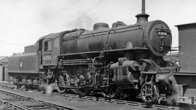 LMS Ivatt 2-6-0 at West Hartlepool Locomotive Depot