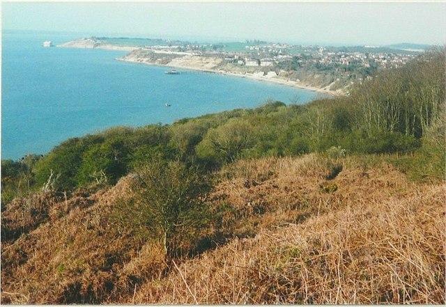 Northeast view from Headon Warren in 1988