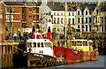 J5082 : Mussel boat and tug, Bangor by Albert Bridge