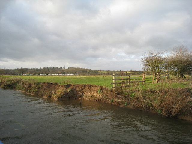 View from the Avon towards Welcombe