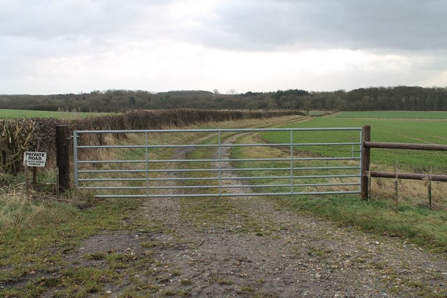 Gated track to dismantled railway