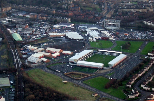 St Mirren Park from the air