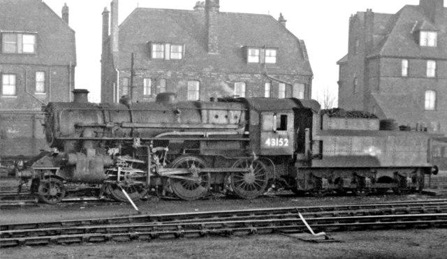 LMS Ivatt 4MT 2-6-0 at Yarmouth Beach Locomotive Depot