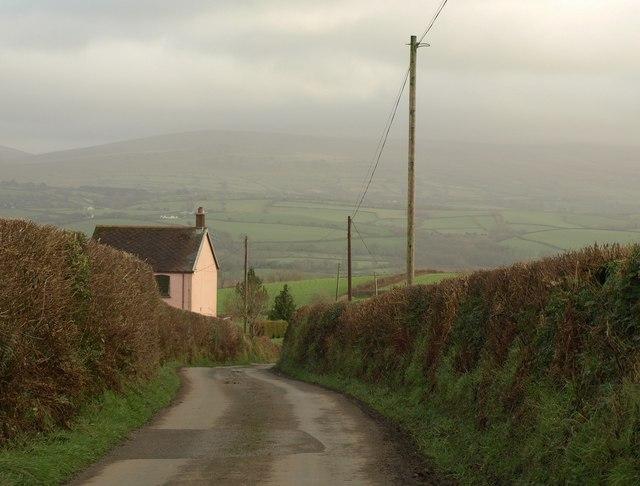 Lane from Boasley Cross
