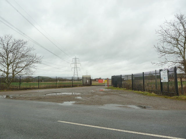 Entrance to Tempsford Composting Facility